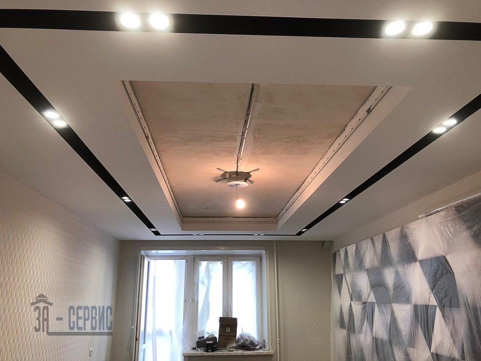 подвесной потолок из гипсокартона цена за м2